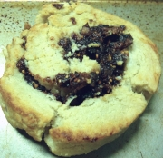 Finished fig pinwheel cookie