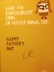 Father's Day card inside