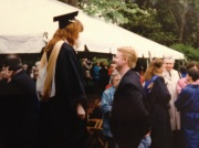 LR Webster graduation with Paddy and Gram, 1994
