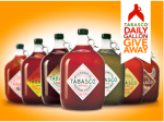 tabasco gallon contest