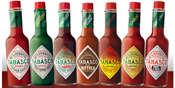 tabasco sauce flavours